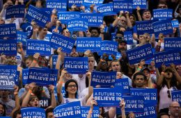 Bernie Sanders rally at Penn State prior to the Pennsylvania primary election, 4/19/16. [Paul Weaver/Flickr]